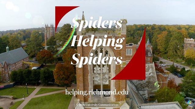 Thank you, #Spiders! Over the past week, the #URichmond community came together to raise more than $400,000 for #SpidersHelpingSpiders, our initiative that provides critical support for students in need.