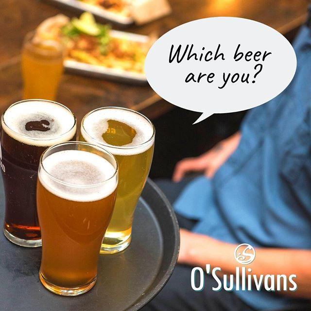 Which #beer are you? #ipa #blondebeer #darkbeer #whitebeer 🍻 . . HAPPY HOUR UNTIL 9:00pm . . Come & taste!