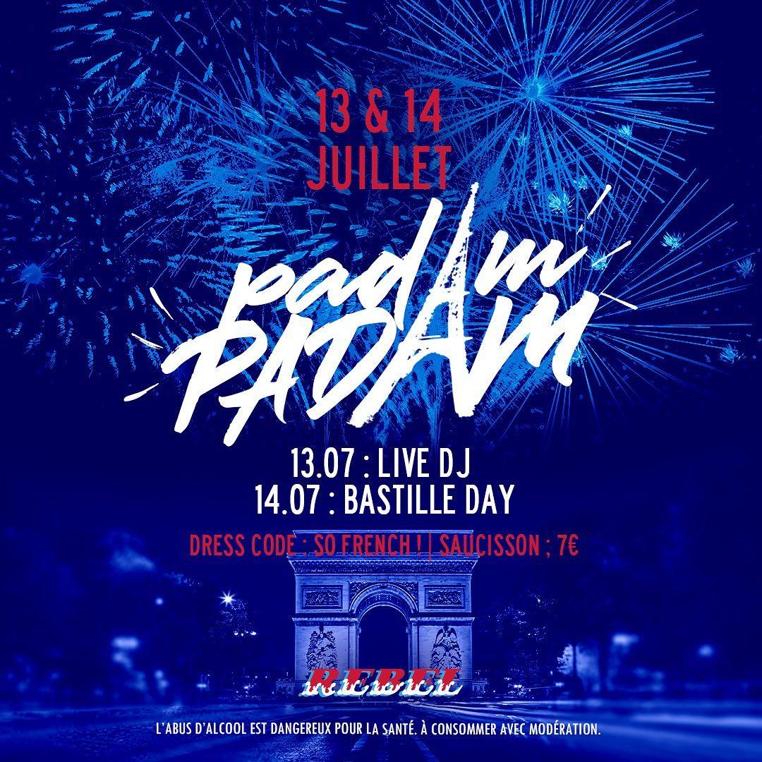 «Padam padam» c'est ce soir et demain ! 🔵⚪️🔴 venez profiter de notre Happy Hour toute la nuit !