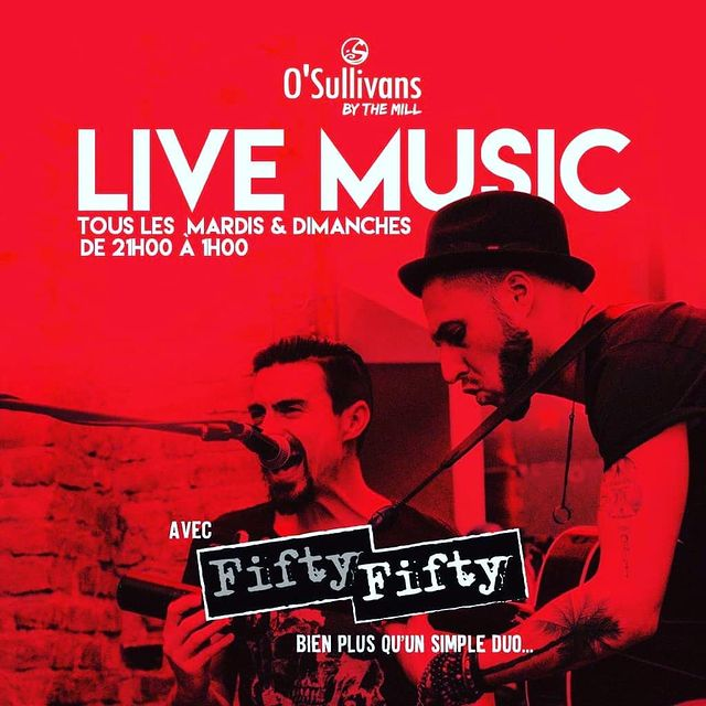 Ola!  🤩 Bouquet final #friday #saturday #sunday avec FIFTY /FIFTY. @jondumusic  19h-21h #livemusic #liveconcert !  #weekend musical dans votre #irishpub favori de #pigalle 🎶  #beer #drinks #food #friends #bar