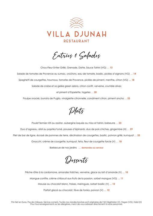 La Villa Djunah Bar, Restaurant, Gardens