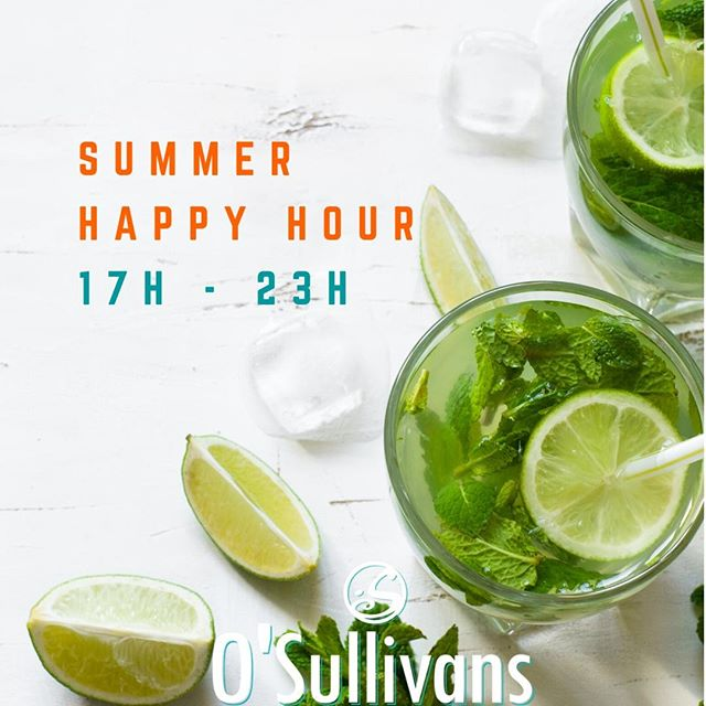 🍻 Notre #happyhour passe à l'horaire d'été. Venez en profiter ! / Enjoy our new summer happy hours all summer long ! 🙌⠀ ⏰ Tous les jours de 17H à 23H ! / Everyday from 5PM to 11PM ! ⠀ 🍺 Pintes à partir de 5€ ⠀ 🍸Cocktails - 8€ / Cocktails sans alcool - 6€⠀ 🍹Mojito - 8€⠀ ⠀ #osgb #osullivans #grandsboulevards #paris #parisian #bar #irishbar #apero #happyhour #summer #ete #fridaynight #fridayfeeling