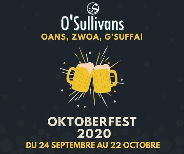 🍻 OKTOBERFEST !⠀ - - ⠀ 🇩🇪 Vous n'avez pas besoin de voyager loin pour trouver la bière allemande. ⠀ Profitez l'Oktoberfest chez nous à partir du 24 septembre jusqu'au 22 octobre ! ⠀ Venez découvrir nos promotions pendant l'Oktoberfest ! ⠀ - - ⠀ 🍺 Bouteille de Paulaner : 7€⠀ Saucisse allemande : 6€⠀ Formule : Bière Paulaner + saucisse allemande : 10€⠀ - - ⠀ 💃 Venez en costumes traditionnels et venez découvrir les nombreux lots à gagner !⠀ - -⠀ ✍️ Reservations Possibles ⠀ 📲 0767399874 ⠀ 📩 events.gb@osullivans-pubs.com⠀ - - ⠀ #osgb #osullivans #Paris #grandsboulevards #irishpub #bar #oktoberfest #cheers #beer #allemande #sortieparis #restaurant ⠀ L'abus d'alcool est dangereux pour la santé. À consommer avec modération.